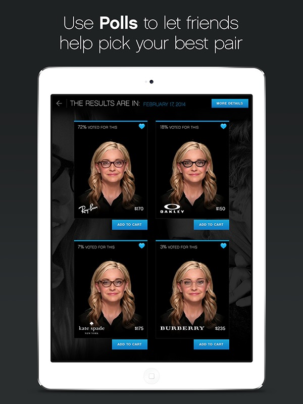 Glasses.com for iPad