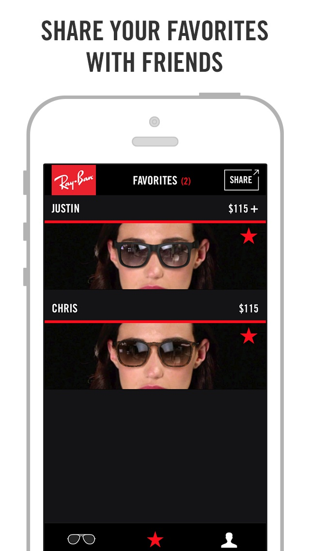 ray ban try on android